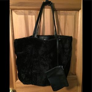Fur purse with small bag new never used